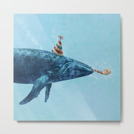 Party Whale  Metal Print
