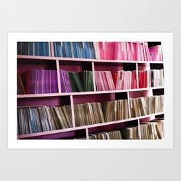 "Color Coded Vinyl 7"" Shelf Art Print"