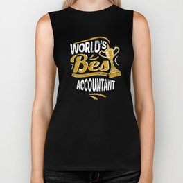 World's Best Accountant Biker Tank