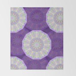 Round Iridescent Geometric Background Throw Blanket
