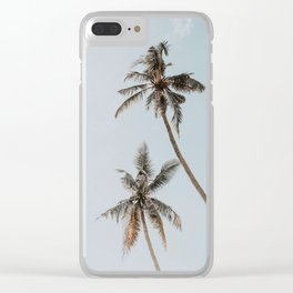 two palm trees Clear iPhone Case