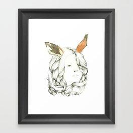 Gazelle Girl Framed Art Print