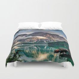 Italy mountains lake Duvet Cover