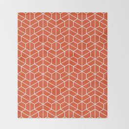 Red hexagons Throw Blanket