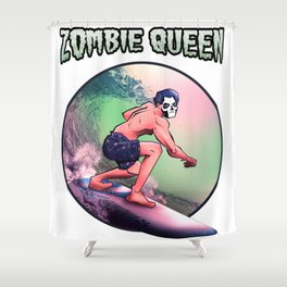 Ghost Zombie Queen Ghuleh Shower Curtain