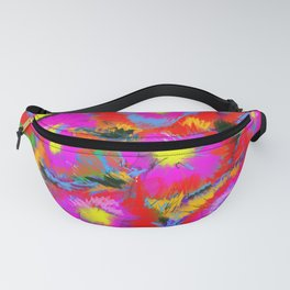 Red and Pink Flowers Fanny Pack