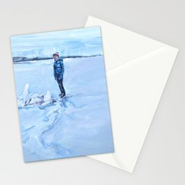 Peter on Ice Stationery Cards