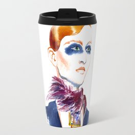 Fashion #13. Girl with a necklace around her neck Travel Mug