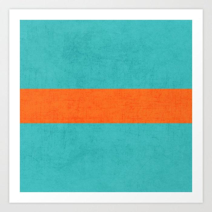 aqua and orange classic Kunstdrucke