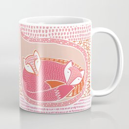 Sleepy Happy Foxes Coffee Mug