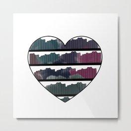 Watercolor Book Heart Metal Print