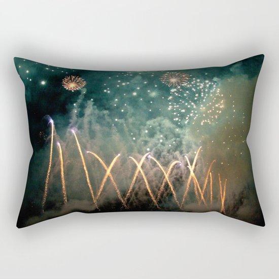 Fireworks Face Rectangular Pillow
