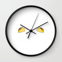 Wrestling and Tacos Funny Taco Wall Clock