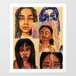 Collage art Art Print