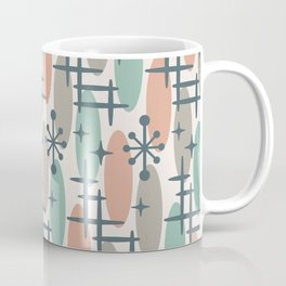 Retro Mid Century Modern Cosmic Surfer Pattern 557 Coffee Mug