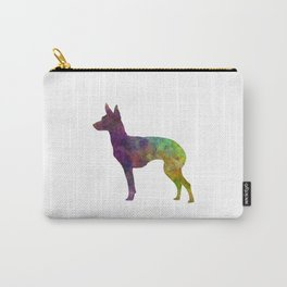 English Toy Terrier in watercolor Carry-All Pouch