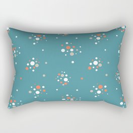 Antique glass bulbs dots blue Rectangular Pillow