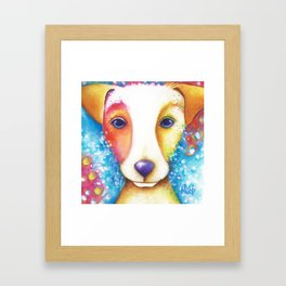 Dog Painting Jack Russell Terrier Vincent Abstract jrt Original Framed Art Print