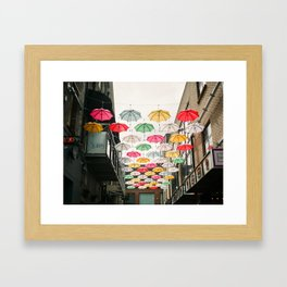 Ireland Dublin   Colorful street photography   Umbrella's Framed Art Print