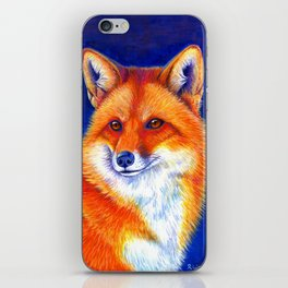 Colorful Red Fox Portrait iPhone Skin