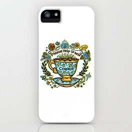 Poison of Choice: Cyanide TeaCup iPhone Case
