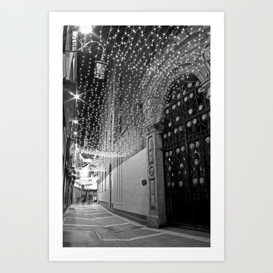 Christmas lights at Johnson's Court, Dublin Art Print