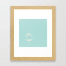 The perfect bubble. Framed Art Print