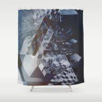 san francisco Shower Curtains featuring San Francisco by Herwig Scherabon