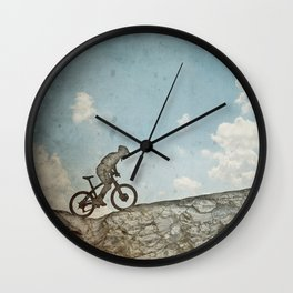 Mountain Biking Wall Clock