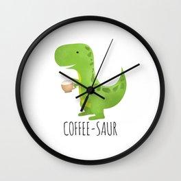 Coffee-saur Wall Clock