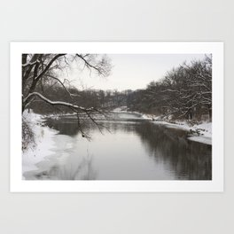 Winter on the River Art Print