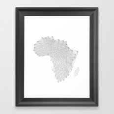 Vector Africa Framed Art Print