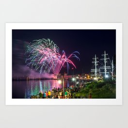 Miramichi Fireworks Art Print