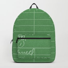 Library Card 797 Negative Green Backpack