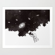 SOLVING THE BIG PUZZLE Art Print