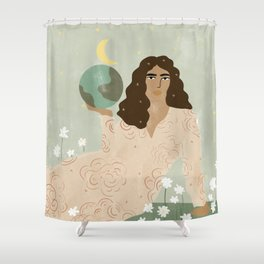 God is a Woman Shower Curtain