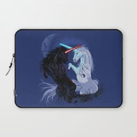 starwars Laptop Sleeves featuring Starwars with Unicorns  by Jonah Makes Artstuff