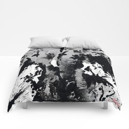 URBAN ELEPHANT INK SPLASH Comforters