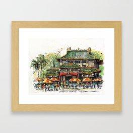 Chinese Temple on Waterloo Street, Singapore Framed Art Print