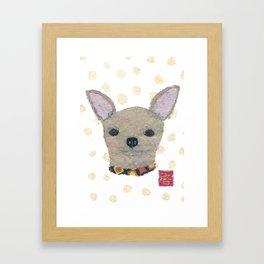 Chihuahua, Dog, Tan Chihuahua Framed Art Print