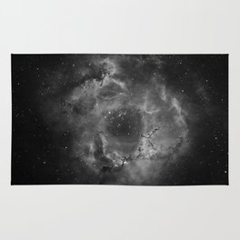 Stars and Space Dust B&W Rug