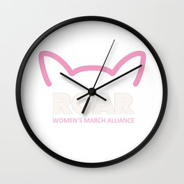 Pink Pussy ROAR - Women's March Alliance Wall Clock