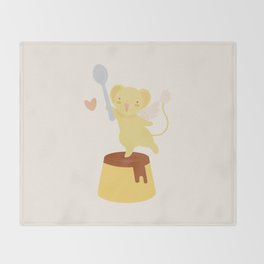 Purin Pudding Throw Blanket