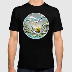 When the Earth meets the Sky Black Mens Fitted Tee MEDIUM