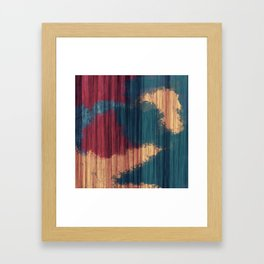 Wood Splash Framed Art Print