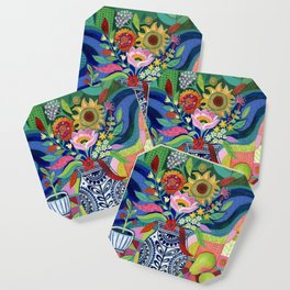 Late Summer Blooms Coaster