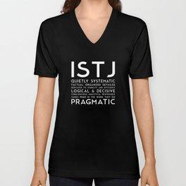 ISTJ (black version) Unisex V-Neck