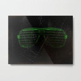 Electro Glasses Metal Print