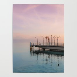 A Suspended Moment In Time Over The Lake Poster
