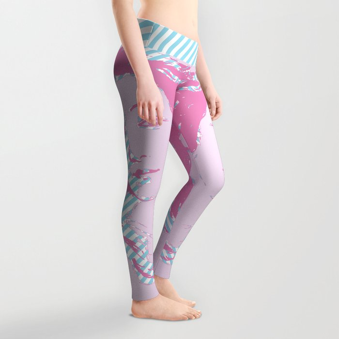 Rebirth of Venus - Pink & Cyan - Trans Pride! Leggings